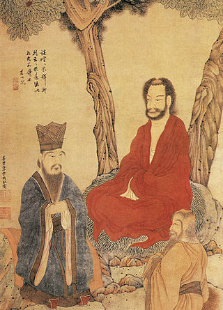 confucius lao tzu and buddhist arhat by ding yunpeng 2