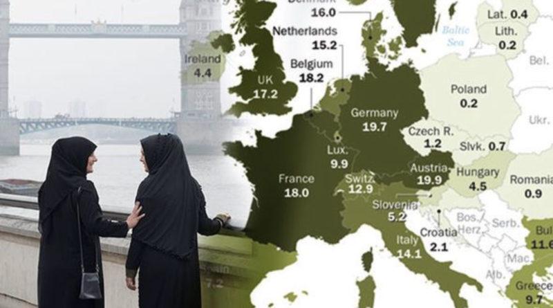 mapa islamizace