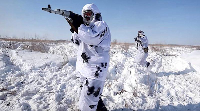 voják v zimě