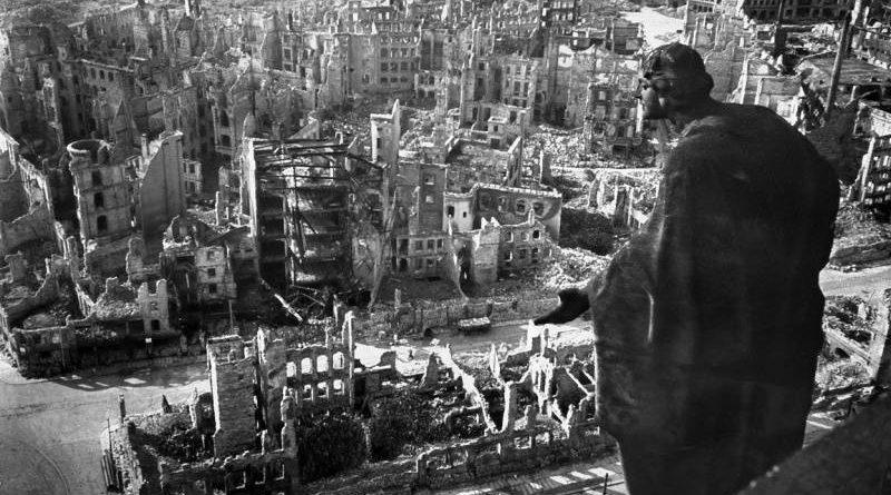 vybombardované Drážďany