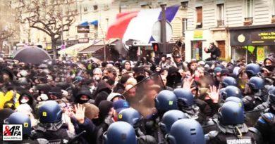 nepokoje v Paříži Francie