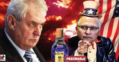 Prezident Zeman šéf tajné služby BIS Koudelka ruský agent s ricinem, pokec24