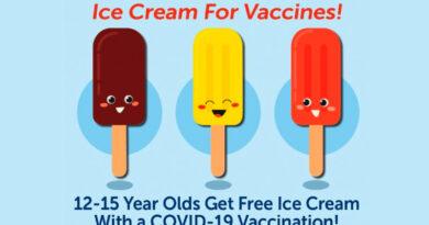 ice cream for vaccine